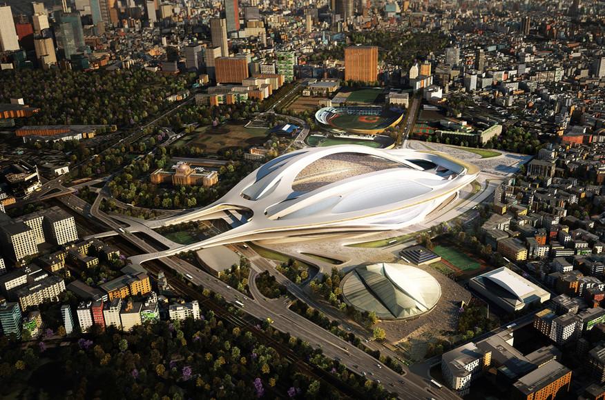 ZHA National Stadium proposal.