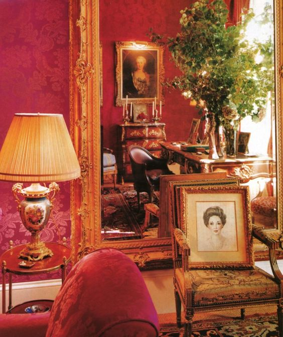 Carolina Herrera's design in her own home.