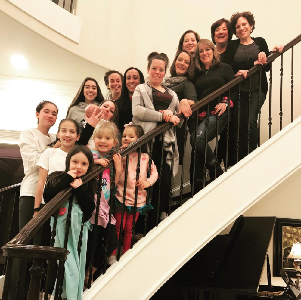 Our 1st Annual Girls' Sleepover - Held in honor of my mom, Therese Kathleen Redican Righeimer.