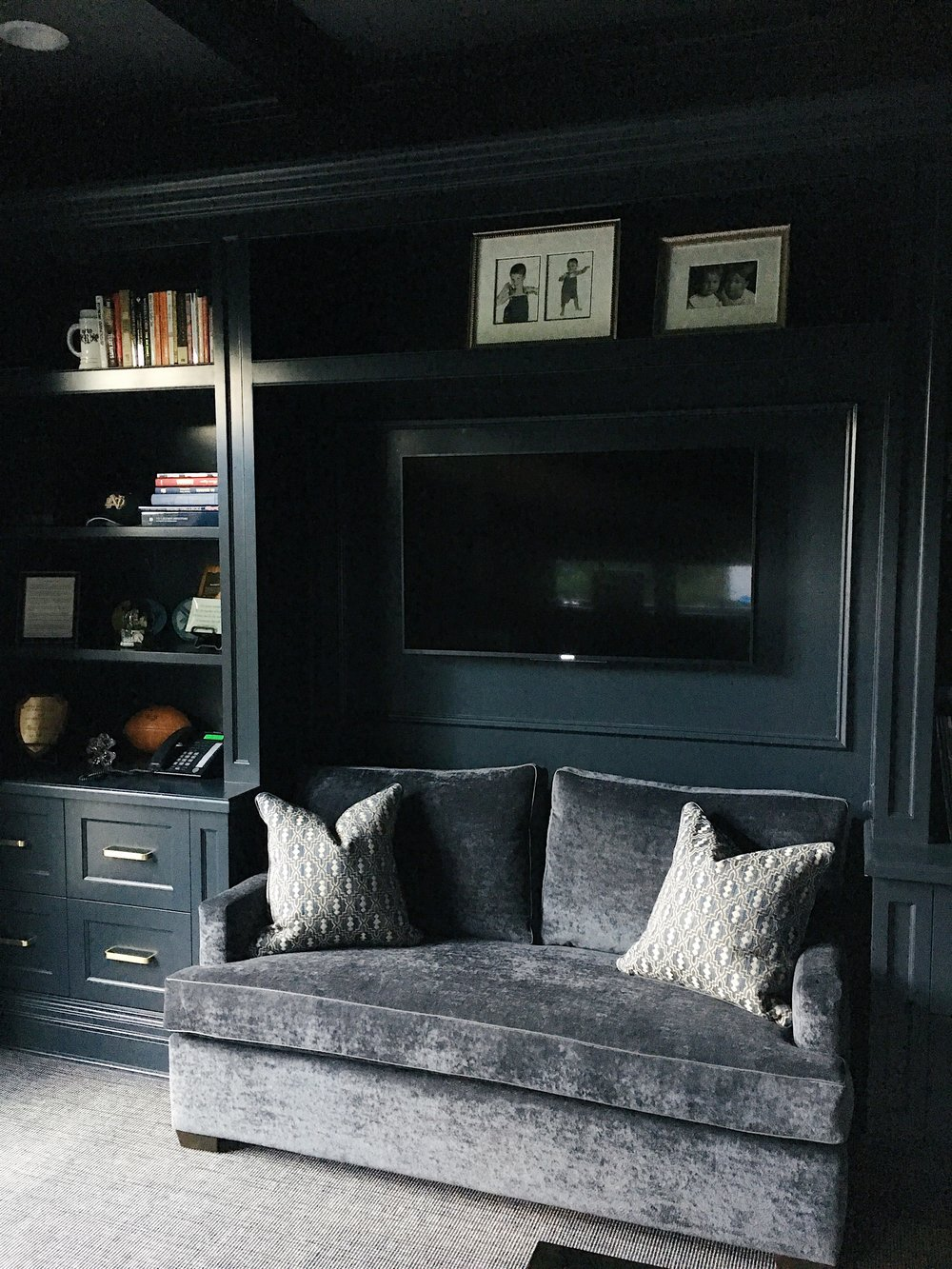We love the way this masculine office turned out - More photos to follow soon!