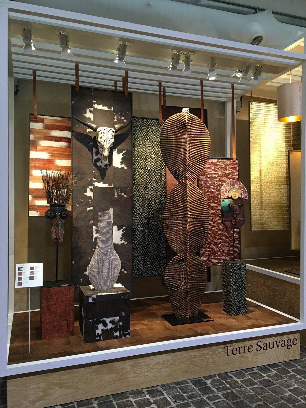 Display from the Elitis preview collection at Paris Deco-Off 2018.