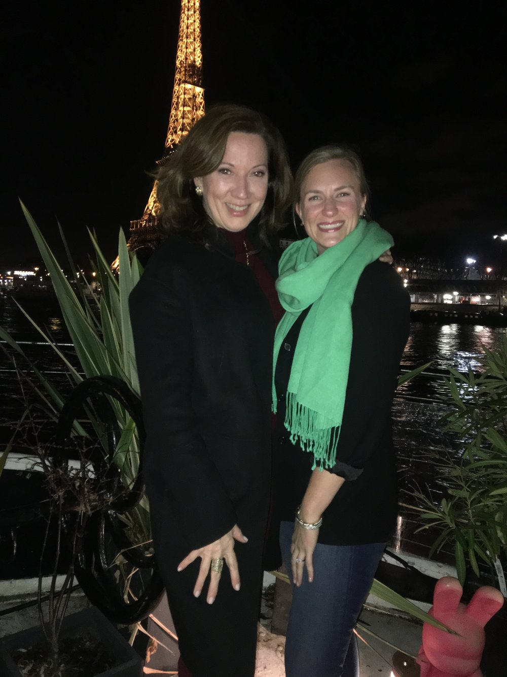 We loved celebrating our birthdays when our friend Peter, of Donghia, coordinated a lovely evening on a house boat overlooking the Eiffel Tower.