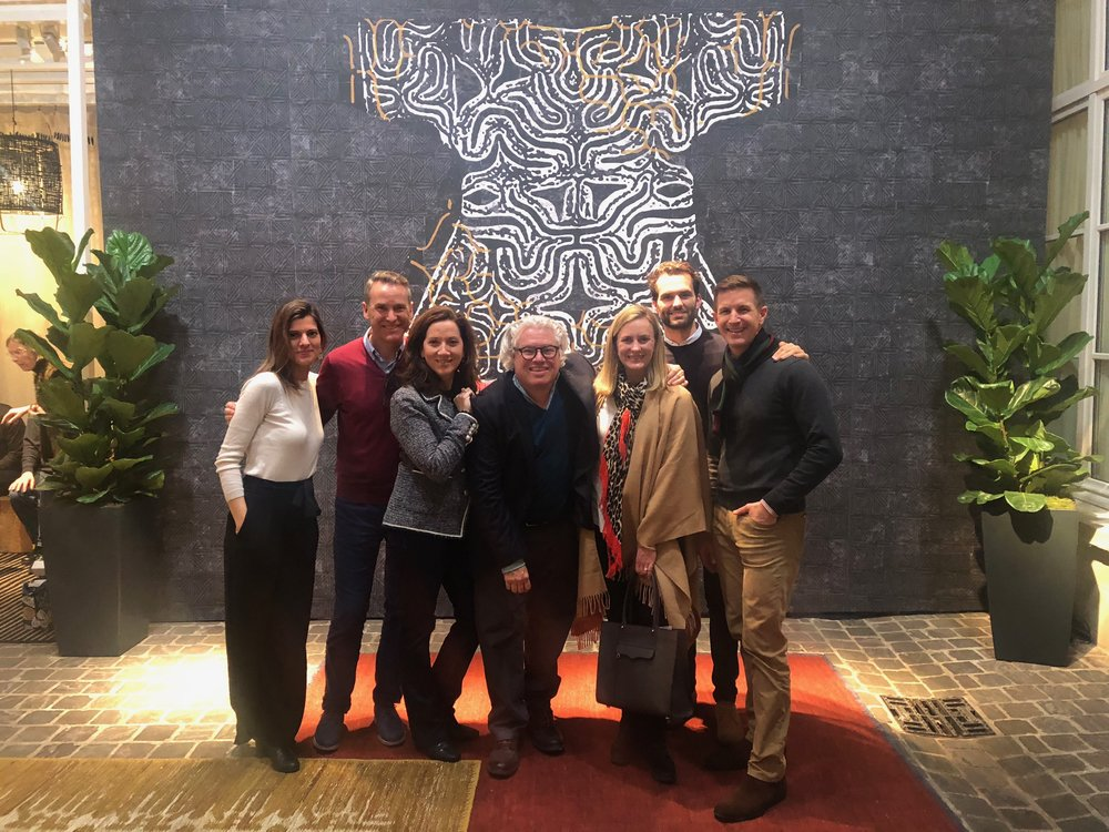 We had a fabulous time with our fellow Chicago designer friends, James Dolenc and Thomas Riker, pictured here with our wonderful host, Peter Julian of Donghia, and the Elitis team.