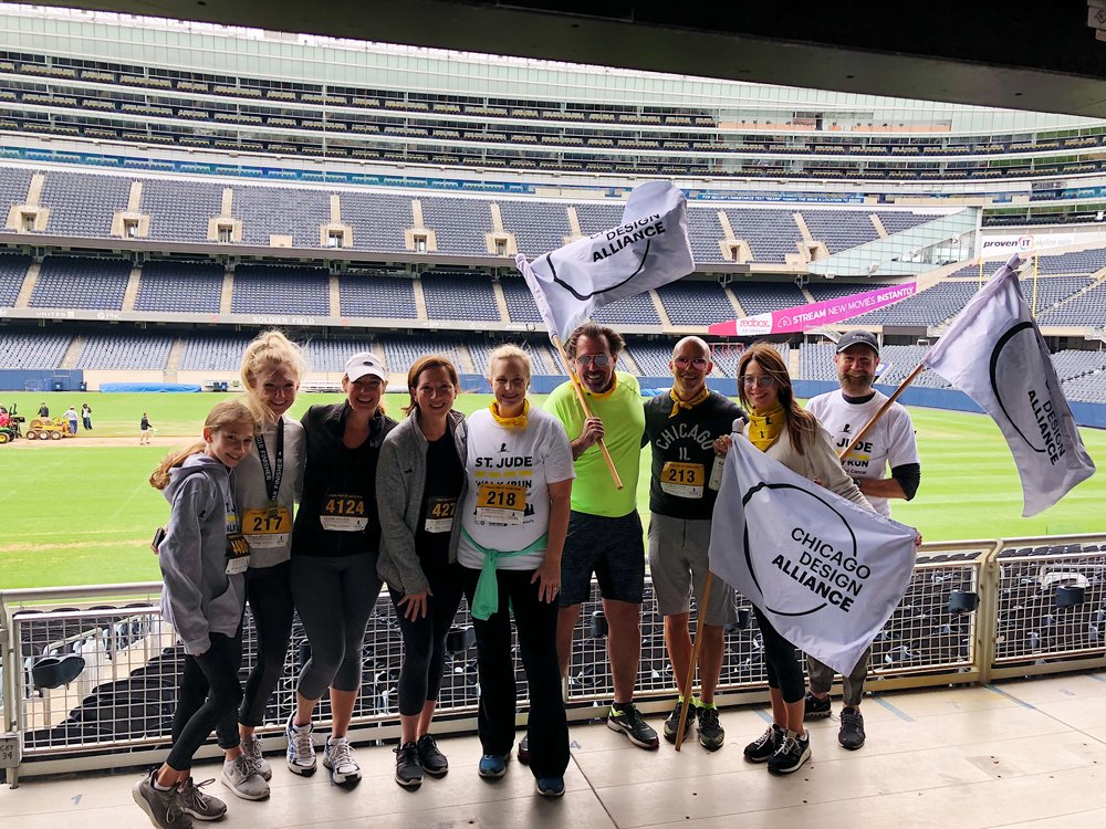 Proud to be a Chicago Design Alliance member supporting St. Jude with the team in September 2018. JBI raised over $2,500 for the 5k with your help!