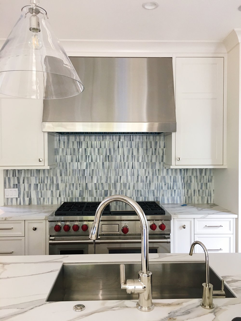"Our version of the ""Winter Blues"" - In a classic blue and white Kitchen…"