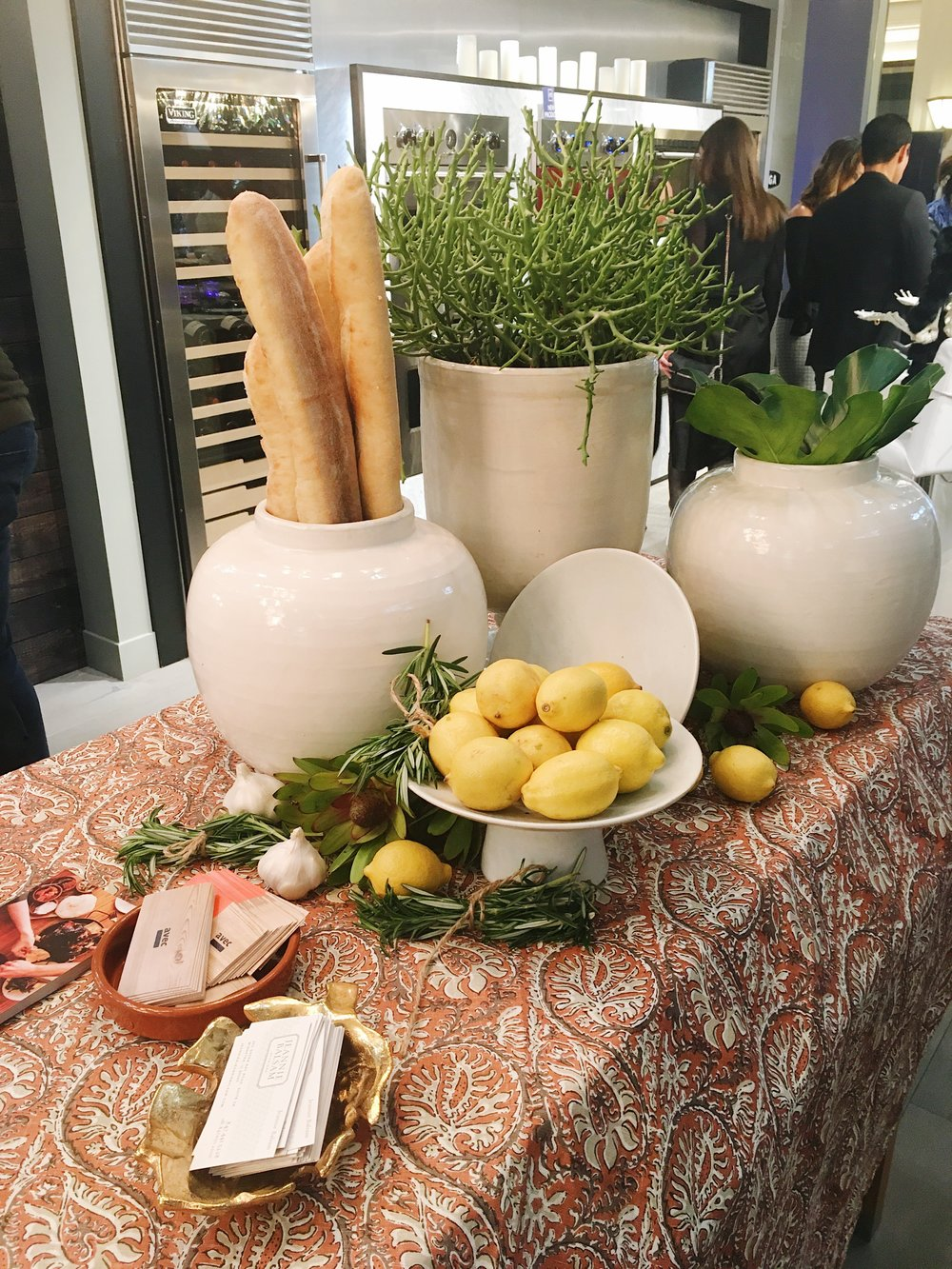 The Mediterranean table decor we designed was the perfect partner for our Avec restaurant pairing at the Modern Luxury Interiors Chicago's Chef's Night Out!
