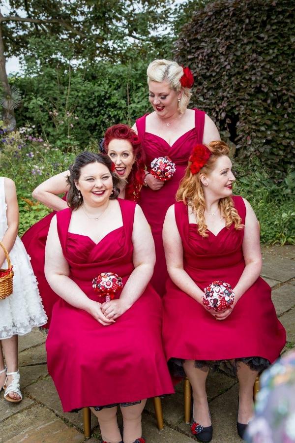bridesmaid button bouquets