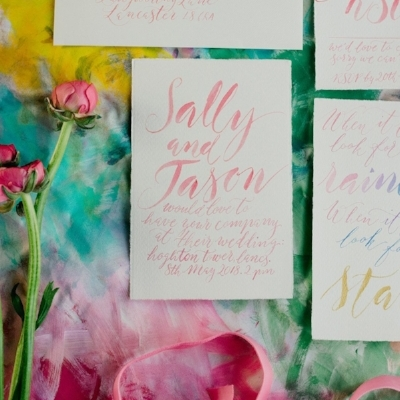 Rainbow gradient invites