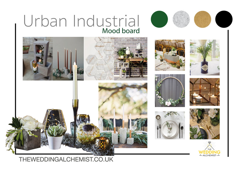Urban Industrial Weddings - Bring a touch of urban chique to your warehouse shindig.
