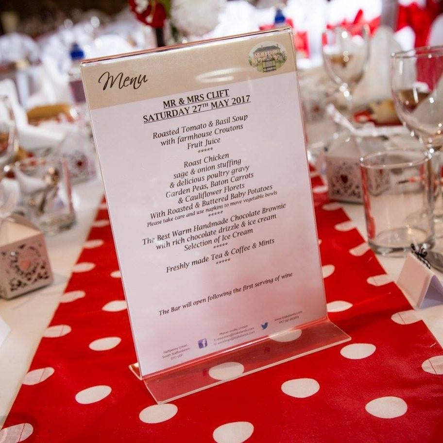 Polka Dot Table Runners - Why not bring a splash of colour and pattern to something that's normally a bit drab!
