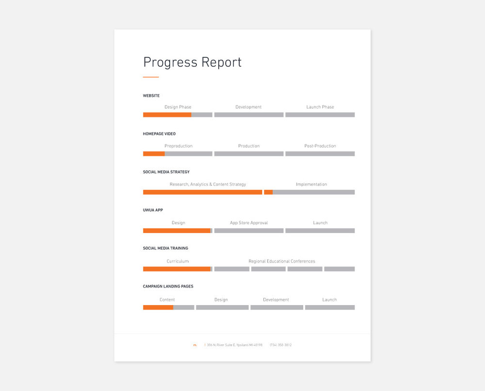 Progress Report Design