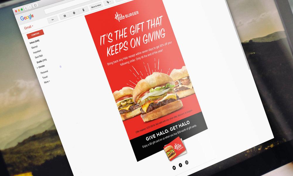 Email Design, Desktop Layout