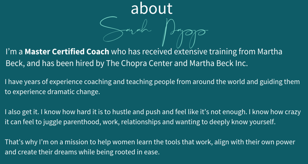 I'm a Master Certified Coach who has received extensive training from Martha Beck, and has been hired by The Chopra Center and Martha Beck Inc. I have years of experience coaching and teaching people from around the .png
