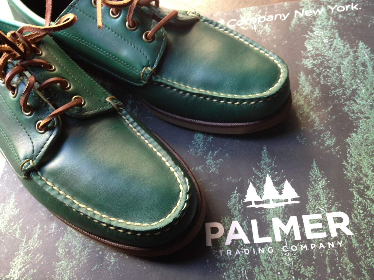 The   original   camp shoe.    Now as green as a Palmer pine forest.   Eastland Made-in-Maine at PTC