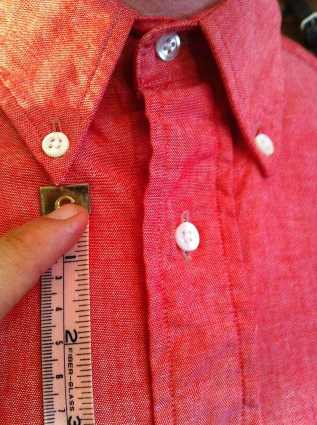 The Perfect Button-down Collar The Palmer Trading shirt. Trim, tailored, finest fabrics and best American construction.