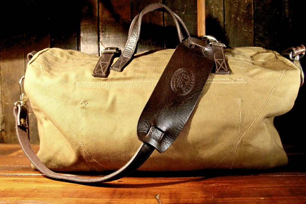 Grab Bag    Palmer Trading Company's Fall Brimfield Duffle in washed 20oz canvas. Made in Massachusetts.