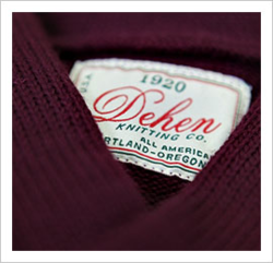 The originals. The exclusive Dehen for Palmer Trading Company sweaters arrive today. Every beautiful woolen stitch identically knit as it was in 1920. Made in Portland, Oregon in the original Dehen factory. Only this original American machinery can craft a sweater gauge this beautifully.