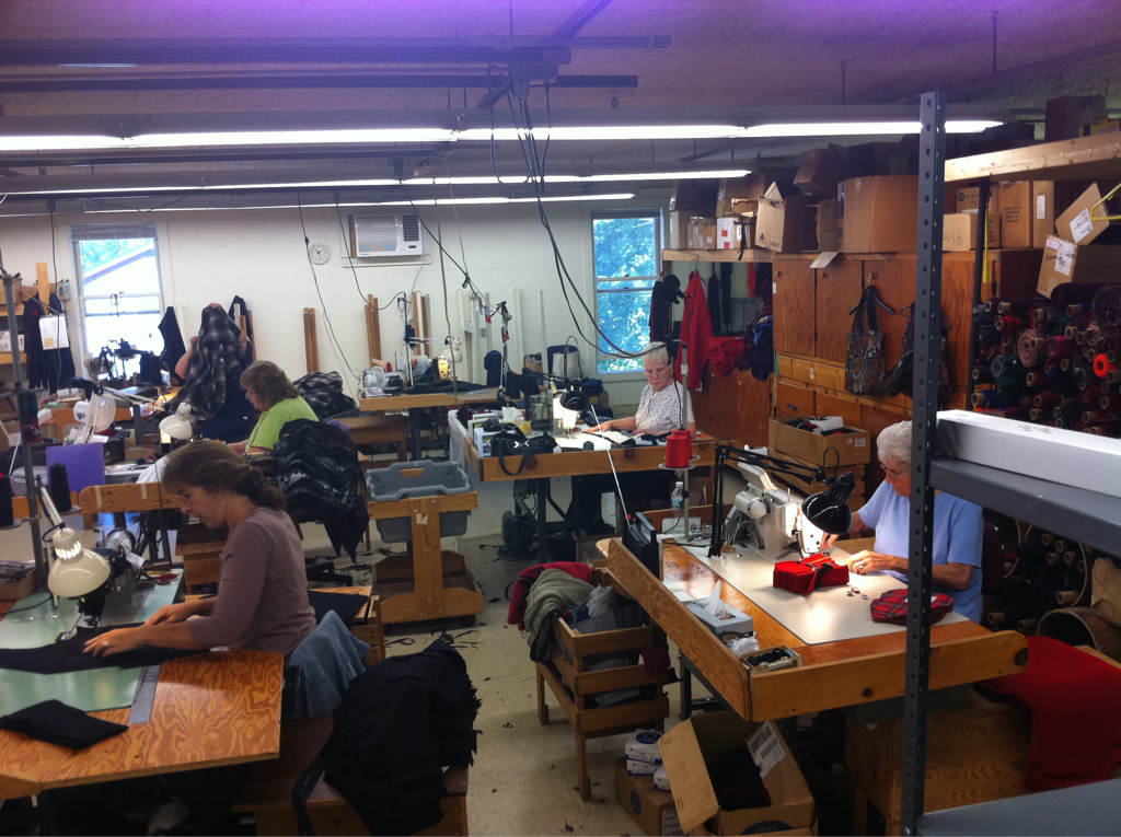 Making it in America    Our rugged men's woolen collection in the talented hands of America's finest. The Palmer Trading woolen jackets in production in one of our favorite USA factories.