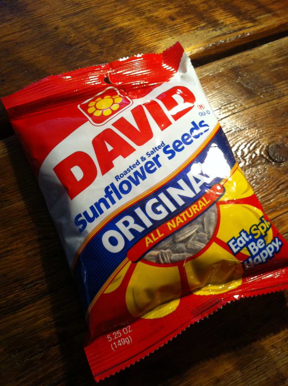 All-American David    We salute summer with the original sunflower seeds. From Omaha, NE.