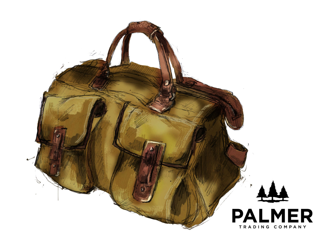 Our Quality is in the Bag    The PTC Spring bag assortment in store this weekend!   Shown above: Original sketch for Brimfield Correspondent Bag