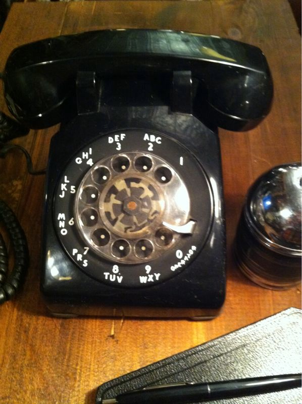 Aren't you glad you use dial? Vintage telephones at PTC wired and ready to work with today's wall jacks. Clear as a Bell.