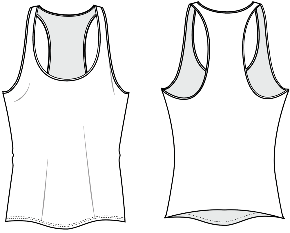 Fit & Intent:  Relaxed slim fit, Low U-neck, long, racerback tank with Active seam side seams and double edge on neck & armhole binding. This tank has a more relaxed fit that the Fitted Tank, with lower arm holes and neck. It is suited for any activity.   Available Sizes:  XS, S, M, L, XL, XXL   Fabric Base Colors:  White, Creme, Grey and Charcoal.   Fabric Content:  This style is available in our Basic and Dove fabrics.  Basic is our 97% Poly, 3% Spandex tee weight fabric available in in 2 base colors White and Grey. Dove is our extra soft, heathered 92% Poly, 8% Spandex in 3 base colors: Creme, Grey and Charcoal.   Finishing Options:   Active seam  side seam coverstitch hems a nd double edge neck and armhole binding.    Eco-impact:  Dyed without water & chemicals, no over-production, focus on minimal waste.  Fabric sourced in the USA. Made to order in the USA.