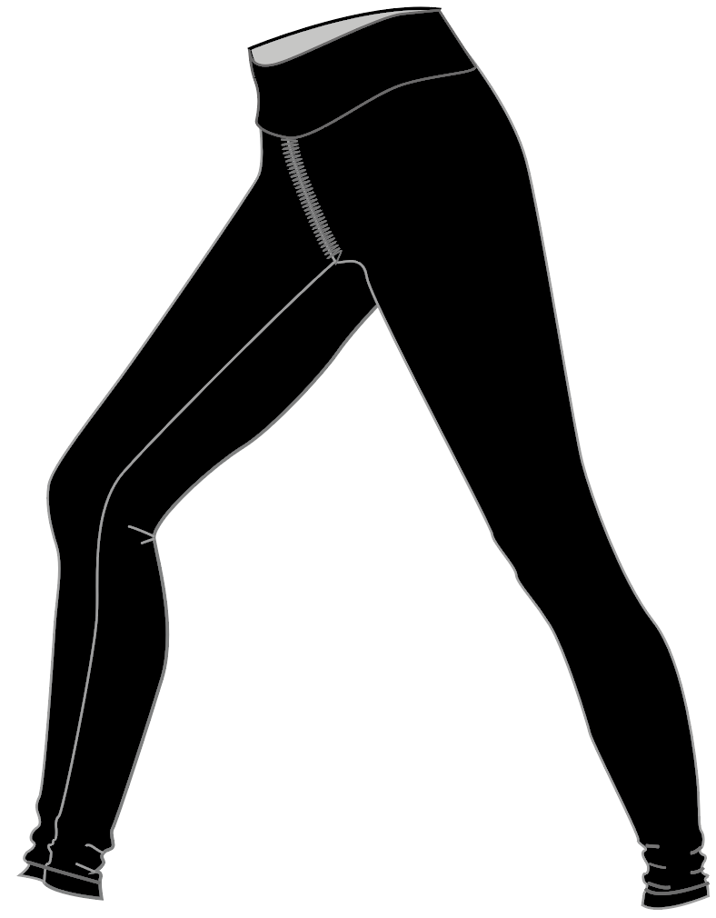 "Fit & Intent: Compression Long leggings with a hem ending 4-5 inches above the ankle (30"" inseam). Finished with active seams and a double support waistband. Available Sizes: 0, 2, 4, 6, 8, 10, 12, 14, 16 Fabric Content: This style is available in our solid Black Compression 72% Micro-Nylon, 28% Spandex with antimicrobial and moisture wicking properties. Finishing Options: Finished with active seams and a double support waistband. Print Location: Logo is available for exterior placement in Vinyl and printed interior waistband. Variants: Full length, 3/4 length, capri, High Waistband Design Options: Thermo heat-set finishing Eco-impact: No over-production, focus on minimal waste. Fabric sourced in the USA and knit in Canada. Made to order in the USA."