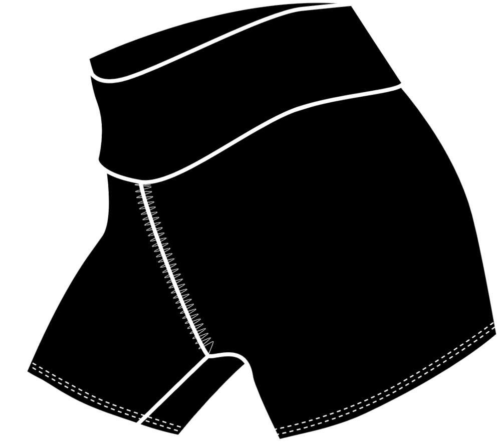 "Fit & Intent:  Compression booty shorts with a hem ending 4-inches below low hip (3"" inseam). Finished with active seams and a double support waistband.   Available Sizes:  0-5X   Fabric Content:  This style is available in our solid Black Compression 72% Micro-Nylon, 28% Spandex with antimicrobial and moisture wicking properties.   Finishing Options:  Active seam side seam coverstitch hems. 1/4"" rib trim for neck and arms.   Logo Placement:  Custom logo is available for localized exterior placement in Vinyl and printed interior back waistband.   Eco-impact:  No over-production, focus on minimal waste. Fabric sourced in the USA and knit in Canada. Made to order in the USA."