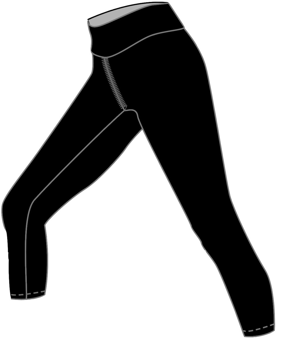 "Fit & Intent:  Compression 3/4 leggings with a hem ending 4-5 inches above the ankle (25"" inseam). Finished with active seams and a double support waistband. This style is available in our solid Black Compression 72% Micro-Nylon, 28% Spandex.   Available Sizes:  0-5X   Fabric Content:  This style is available in our solid Black Compression 72% Micro-Nylon, 28% Spandex with antimicrobial and moisture wicking properties.   Finishing Options:  Active seam side seam coverstitch hems. 1/4"" rib trim for neck and arms.   Logo Placement:  Custom logo is available for localized exterior placement in Vinyl and printed interior back waistband.   Eco-impact:  No over-production, focus on minimal waste. Fabric sourced in the USA and knit in Canada. Made to order in the USA."