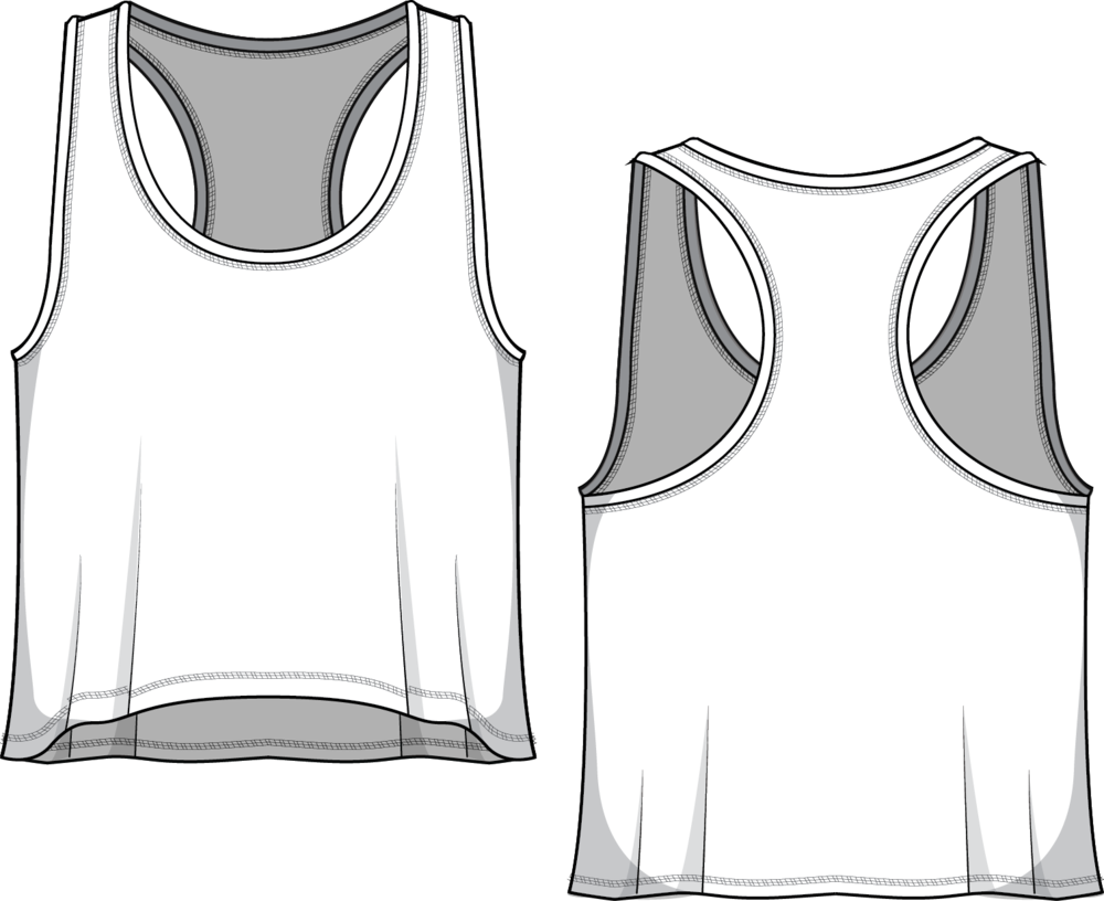 Fit & Intent:  Boxy- loose fit, low U neck, low arm holes, short racerback tank with Active seam side seams and double edge on neck & armhole binding. This tank is best over a sports bra for any work out.   Available Sizes:  XS, S, M, L, XL, XXL   Fabric Base Colors:  White, Creme, Grey and Charcoal.   Fabric Content:  This style is available in our Basic and Dove fabrics.  Basic is our 97% Poly, 3% Spandex tee weight fabric available in in 2 base colors White and Grey. Dove is our extra soft, heathered 92% Poly, 8% Spandex in 3 base colors: Creme, Grey and Charcoal.   Finishing Options:   Active seam  side seam coverstitch hems a nd double edge neck and armhole binding.    Eco-impact:  Dyed without water & chemicals, no over-production, focus on minimal waste. Fabric sourced in the USA. Made to order in the USA.