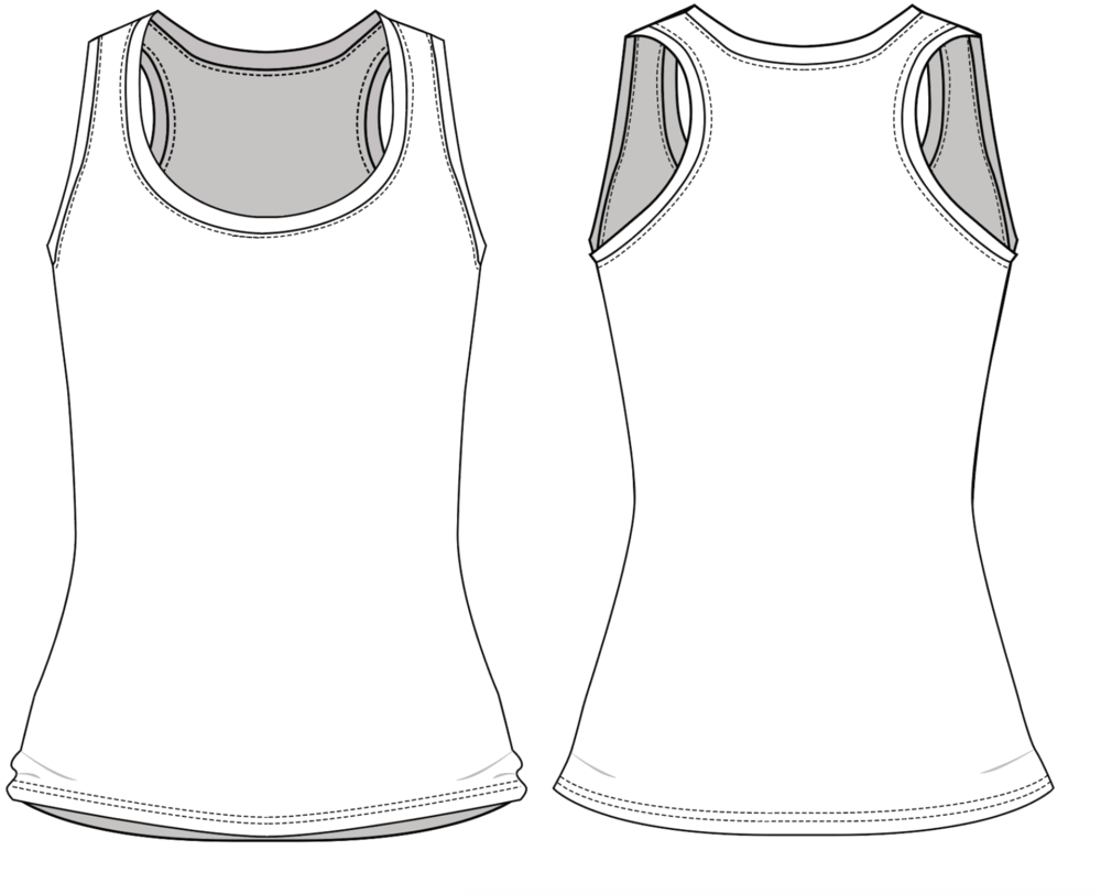 "Fit & Intent:  Slim Fit, High U-neck, long, racer back tank with Active seam side seams and double edge on neck & armhole binding. Great layering basic for everyday or any exercise. Comes in both our digitally printable fabrics, Dove & Basic.   Available Sizes:  XS, S, M, L, XL, XXL   Fabric Base Colors:  White, Creme, Grey and Charcoal.   Fabric Content:  This style is available in our Basic and Dove fabrics. Basic is our 97% Poly, 3% Spandex tee weight fabric available in in 2 base colors White and Grey. Dove is our extra soft, heathered 92% Poly, 8% Spandex in 3 base colors: Creme, Grey and Charcoal.   Finishing Options:  Active seam side seam coverstitch hems. 1/4"" rib trim for a clean neckline and more structure.   Eco-impact:  Dyed without water & chemicals, no over-production, focus on minimal waste. Fabric sourced in the USA. Made to order in the USA."