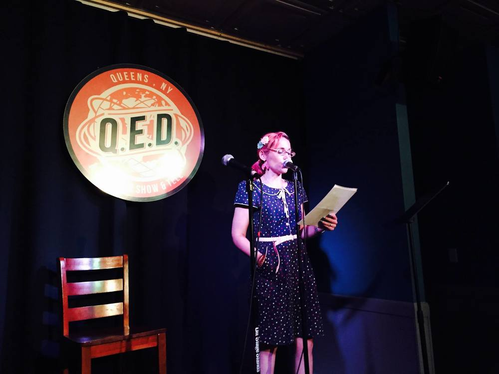 Risk of Discovery's open mic at QED in Astoria, Queens!
