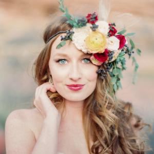 desert bride // style me pretty