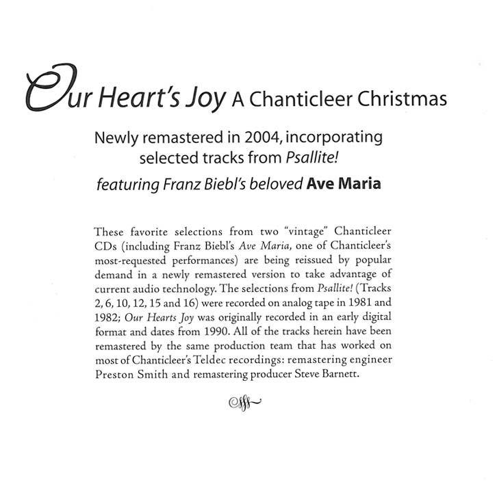 our hearts joy - Christmas In Our Hearts Lyrics