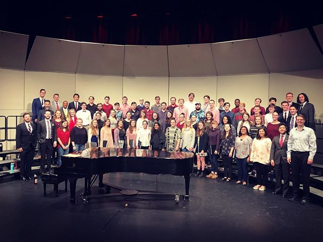 "Tour 2 ends today with a bang (or a ""taka tm""?), working with the fantastic NC State Chorale on repertoire inspired by traditional Filipino percussion instruments. Thanks for having us, @ncstatelive, and see you tonight in @ncstate's Stewart Theater! 🏈 #singing #choir #artsncstate #education #acappella #ncstate"