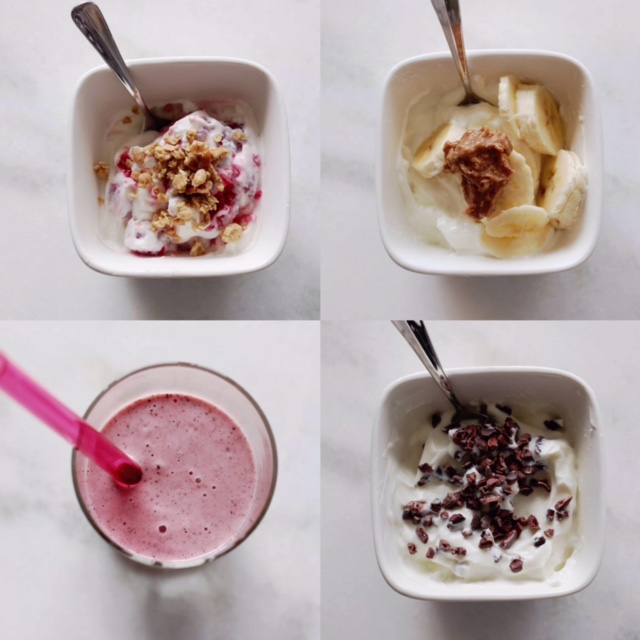 Greek yogurt 4 ways