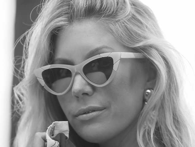 The Salty blondexpared eyewear -