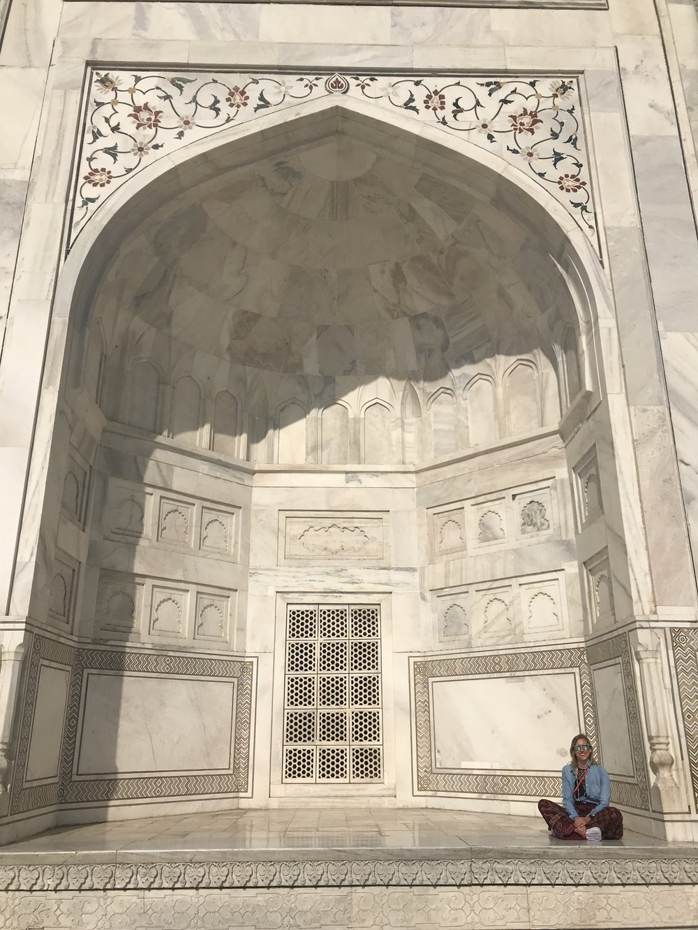 Slowing down and taking it all in at the Taj Mahal