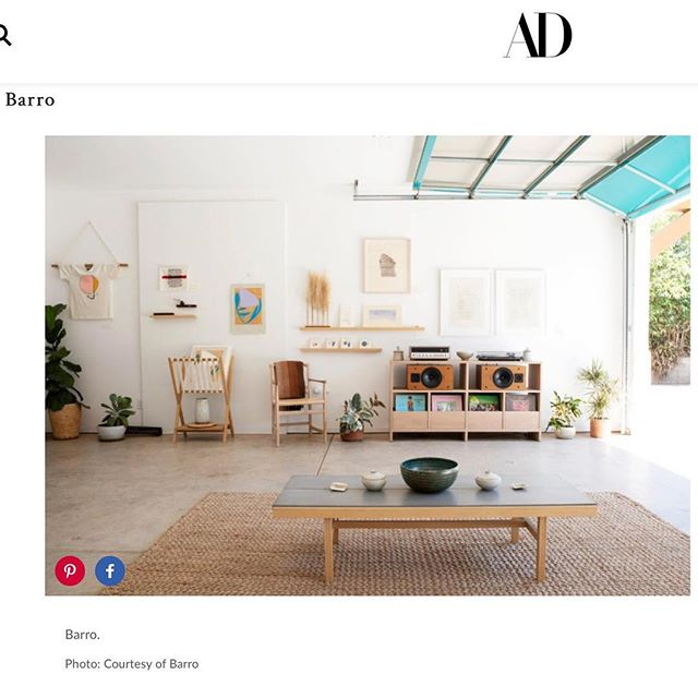 Very excited to be featured in @archdigest along with such lovely and talented Ojai neighbors @inthefieldojai @cattywampuscraftsojai @beaconcoffee @porchgalleryojai Especially our partners in space + time @killscrow AND a massive thank you to @brittanyesmith for shooting the space for this piece. 💞