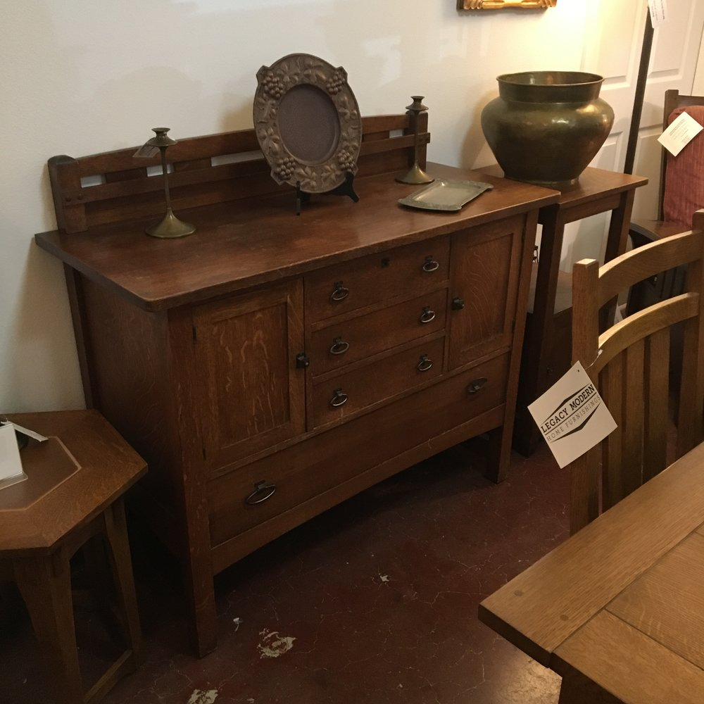 1910 Charles Limbert Oak Sideboard in original finish