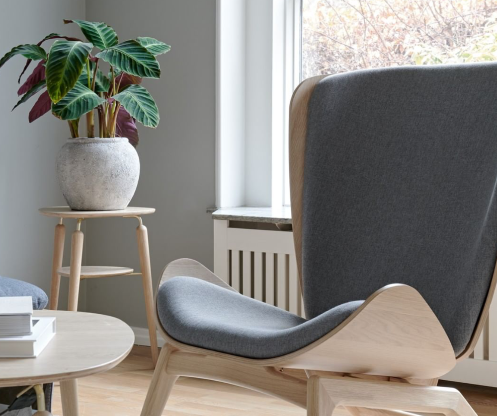 The UMAGE Reader chair and Hang Out coffee table make a stylish and functional pairing. Now available in store!