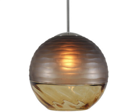 The Encalmo Pendant Features Two Blown Glass Orbs Fused Together With Beautiful Precision & Style