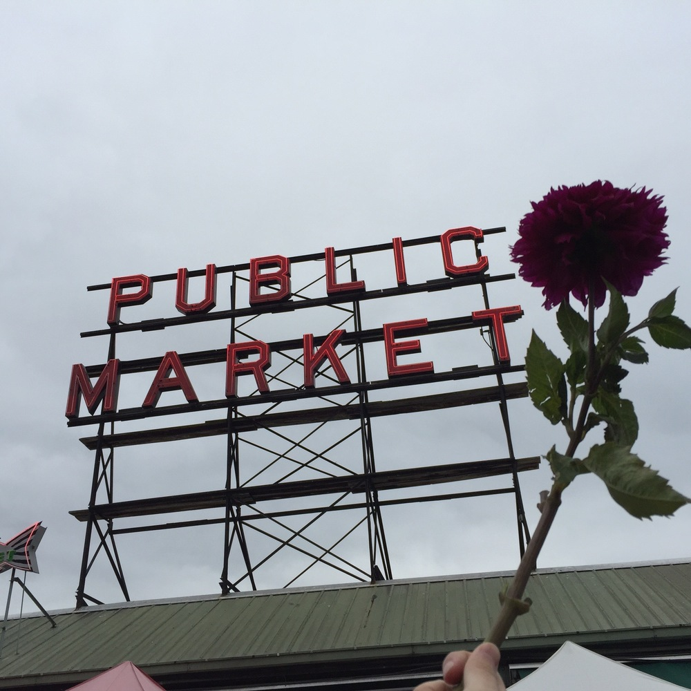 Gathering pretty things at Pike Place Market