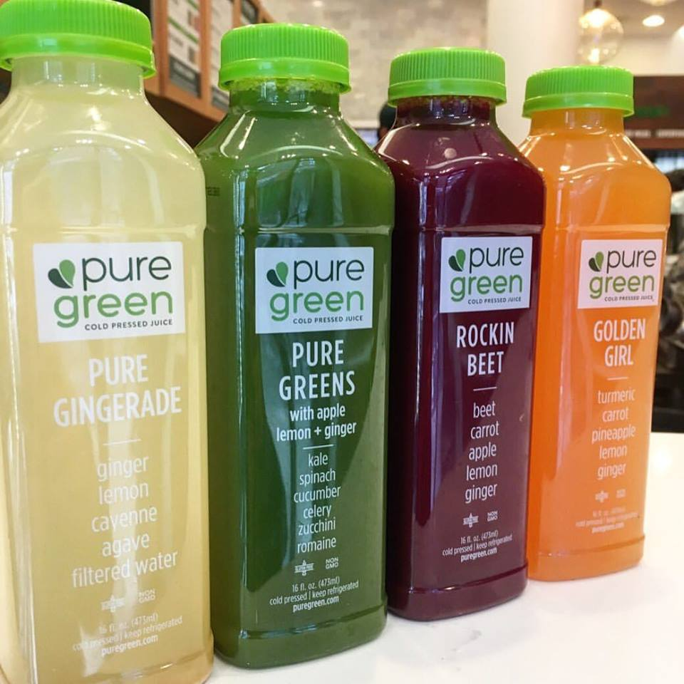 pure green cold pressed juice delivery