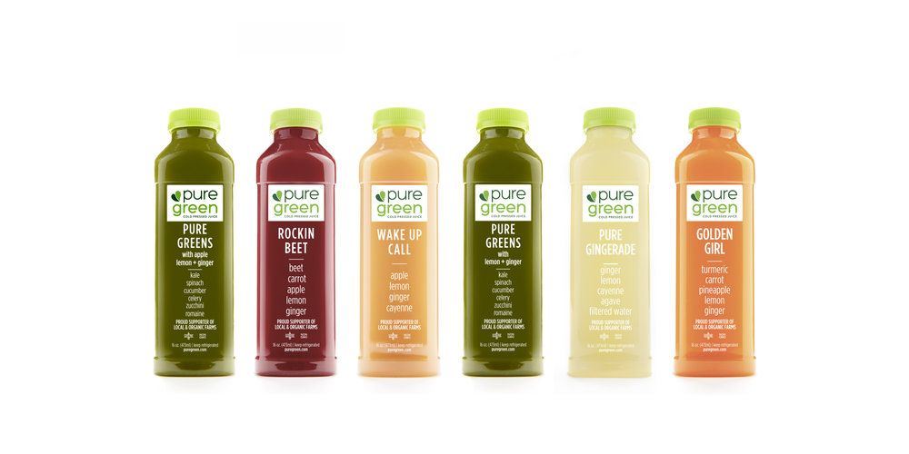 Pure Green Wholesale Cold Pressed Juice