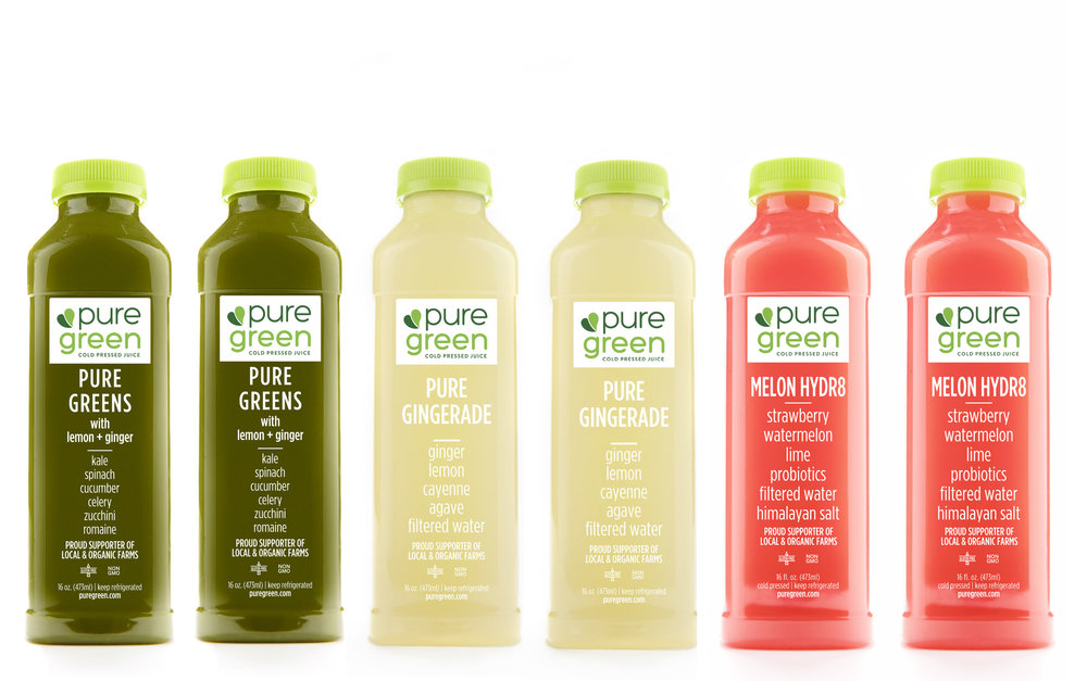 Pure Recharge Cold Pressed Juice Subscription