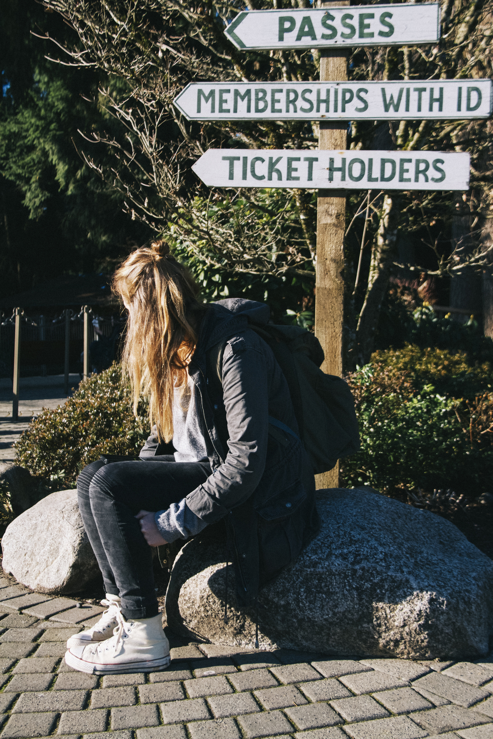 journeying with eve. exploring capilano bridge, vancouver