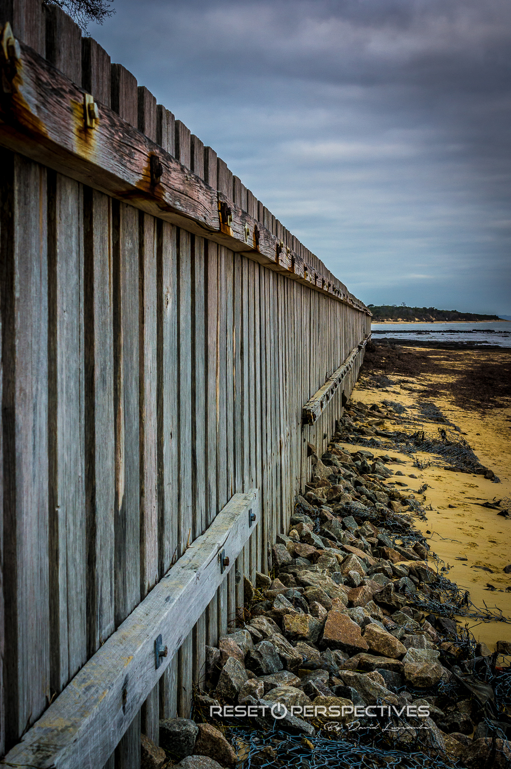 Sea Wall at Somers Beach, Victoria