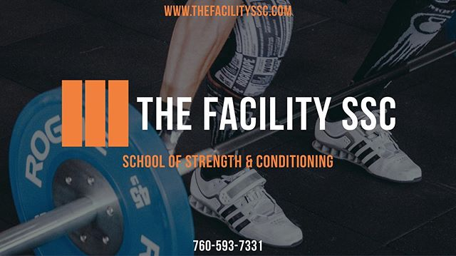 [ We Are The Facility ]  The Facility School of Strength & Conditioning is San Diego's Top Training Facility For All Levels Of Sport.  We Want You To Feel Like A Pro!  We Provide Performance Coaching, Sports Nutrition, Recovery & Technology Only Found At The Facility. —————————————————— #strengthtraining #strengthandconditioning #strengthcoach #nutrition #nutrioncoach