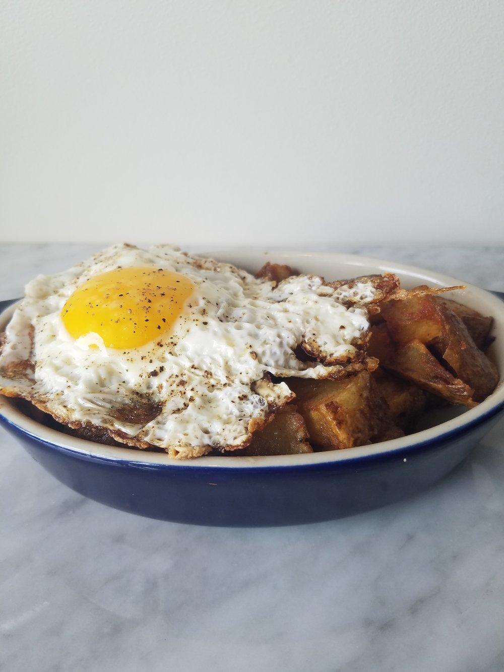 WEDNESDAYSPork Hash  - With Fried Egg
